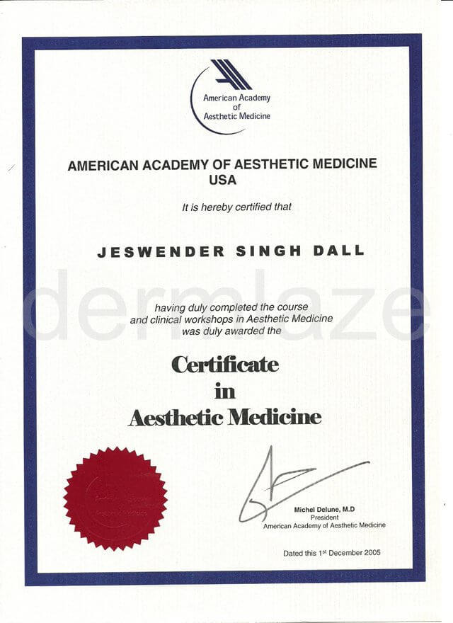 20051201-certificate-aesthetic-medicine